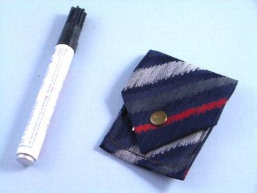 Tie Bag Bag Miniblings Upcycling Tie Push Button Striped – Bild 3