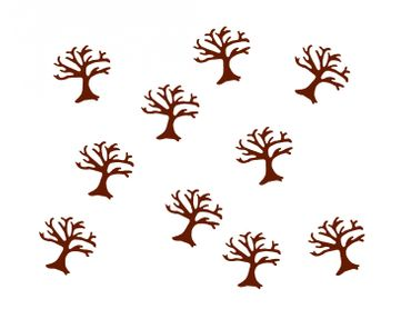 10X Patch Hotfix Iron On Motif Miniblings 25mm Velvety Flock Tree Trees Nature – Bild 2