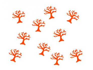 10X Patch Hotfix Iron On Motif Miniblings 25mm Velvety Flock Tree Trees Nature – Bild 9