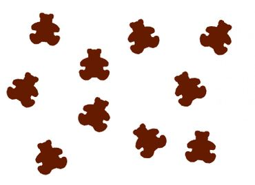 10X Patch Hotfix Iron On Motif Miniblings 22mm Velvety Flock Bear Teddy Kids Children – Bild 6