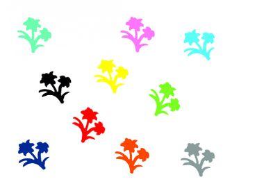 10x Bügelbild Bügelbilder Aufnäher Patch Miniblings 28mm FLOCK Blume Pflanze – Bild 1