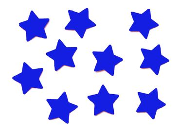 10x Bügelbild Bügelbilder Aufnäher Patch Miniblings 50mm FLOCK Stern Star XL – Bild 22