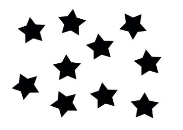 10x Bügelbild Bügelbilder Aufnäher Patch Miniblings 50mm FLOCK Stern Star XL – Bild 12