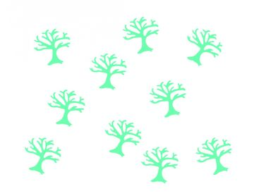 10X Patch Hotfix Iron On Motif Miniblings 25mm Glossy Gloss Tree Trees Nature – Bild 15