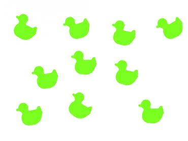 10X Patch Hotfix Iron On Motif Miniblings 25mm Glossy Gloss Duck Bird Drakes – Bild 2