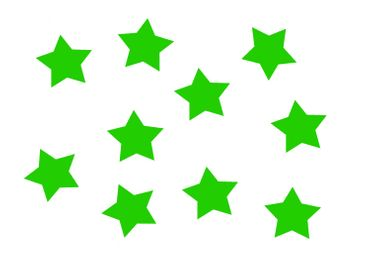 10X Patch Hotfix Iron On Motif Miniblings 50mm Glossy Gloss Star StarsXL – Bild 15
