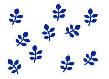 10x Bügelbild Bügelbilder Aufnäher Patch Miniblings 28mm GLATT Blatt Blätter – Bild 2