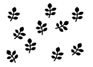 10x Bügelbild Bügelbilder Aufnäher Patch Miniblings 28mm GLATT Blatt Blätter – Bild 12