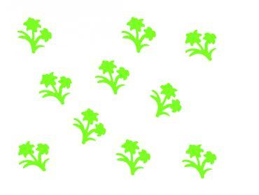 10x Bügelbild Bügelbilder Aufnäher Patch Miniblings 28mm GLATT Blume Pflanze – Bild 2