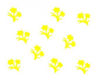 10x Bügelbild Bügelbilder Aufnäher Patch Miniblings 28mm GLATT Blume Pflanze – Bild 3