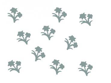 10x Bügelbild Bügelbilder Aufnäher Patch Miniblings 28mm GLATT Blume Pflanze – Bild 4