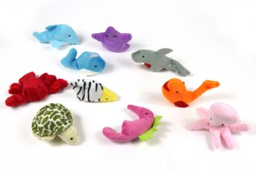 10X Finger Puppets Sea Animal Figure Figures Figuriness Miniblings Fish Maritim Plush Fish – Bild 1