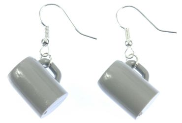 Beer Stein Earrings Miniblings Beer Mugs Oktoberfest Wiesn Liters Of Beer – Bild 1