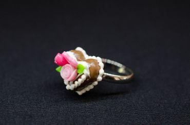 Lebkuchenherz Ring Tortenring Herz Miniblings Kuchen Oktoberfest Wiesn Rosen – Bild 4