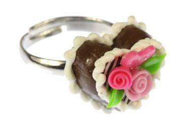 Gingerbread Heart Ring Cake Miniblings Oktoberfest Wiesn Rose – Bild 2