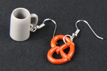 Oktoberfest Earrings Miniblings Beer Mug Pretzel Oktoberfest Bayern Measure – Bild 3