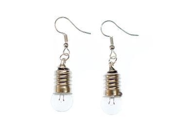Earrings Miniblings Upcycling Bulb Lamp Light Glass – Bild 2
