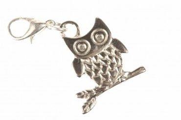 Owl Charm Bracelet Wristlet Dangle Miniblings Bird Silver – Bild 1