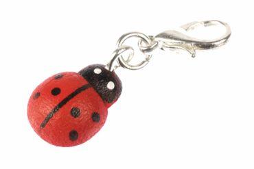 Ladybird Beetle Charm Zipper Pull Pendant For Bracelet Wristlet Miniblings Wood red – Bild 1