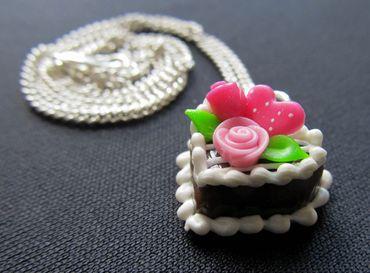 Lebkuchenherz Kette Halskette Miniblings 45cm Oktoberfest Lebkuchen Herz Rosen – Bild 1
