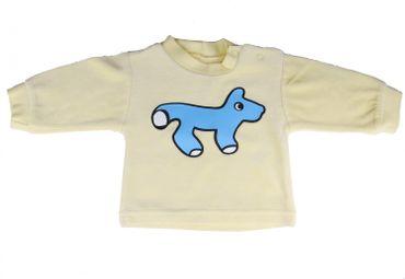 Baby Pullover Nicistoff KALLE FUX Handarbeit Longsleeve pULLI Fuchs blau 62 – Bild 1