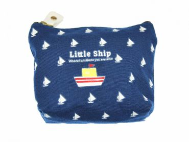 Ship wallet purse bag  boat blue With Zipper – Bild 1
