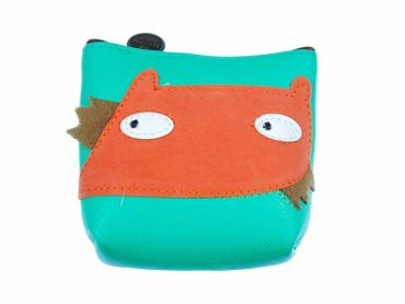 Fox Purse Money Bag Purse Bag Miniblings Animal Head Turquoise – Bild 1