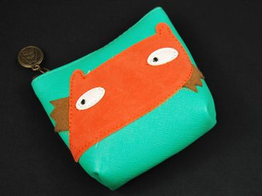 Fox Purse Money Bag Purse Bag Miniblings Animal Head Turquoise – Bild 3