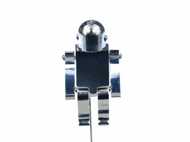 Robot Tie Clips Miniblings Pin Robot Silver Movable – Bild 3