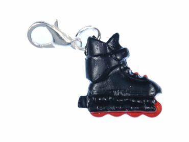Rollerblades Charm Anhänger Rollschuhe Inlineskates Miniblings Skates schwz rot