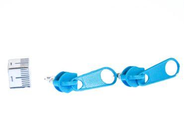Zipper Pull Zip Earrings Ear Studs Earstuds Miniblings Turquoise Round – Bild 4