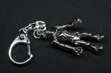 Exoskelett Schlüsselanhänger Miniblings Anhänger Schlüsselring Android Roboter – Bild 3