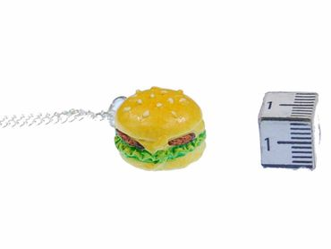 Hamburger Big Kette Halskette Miniblings 45cm Cheesburger Fast Food Burger XL – Bild 4