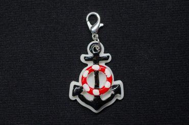 Anchor On White Maritime Charm Zipper Pull Pendant Sea – Bild 2
