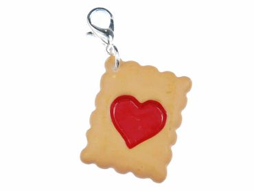 Shortbread Heart Charm Miniblings Charms Biscuit Cookies – Bild 1