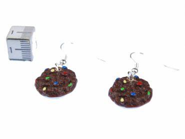 Cookie Schoki Ohrringe Hänger Miniblings backen Keks braun bunte Perlen – Bild 2