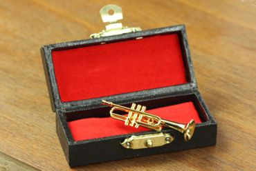 Trumpet Brooch Miniblings Pin Badge Trumpeter Box Gold Plated – Bild 5