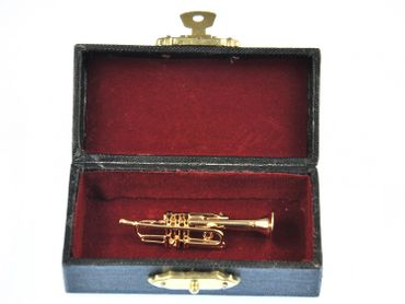 Trumpet Brooch Miniblings Pin Badge Trumpeter Box Gold Plated – Bild 6