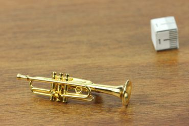 Trumpet Brooch Miniblings Pin Badge Trumpeter Box Gold Plated – Bild 7