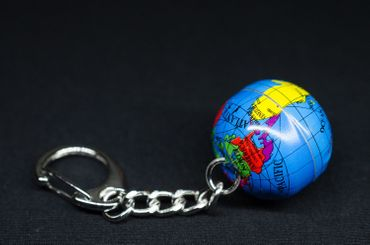 Globe Key Ring Miniblings Pendant World Travel Globe Earth – Bild 2