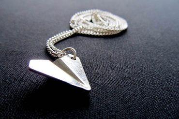 Papierflieger Kette Halskette Miniblings 45cm Origami Flugzeug Flieger Urlaub – Bild 7