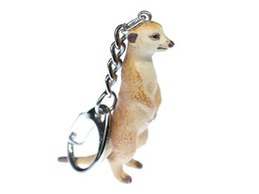 Meerkats Key Ring Miniblings Key Chain Ring Prairie Dog 6cm – Bild 1