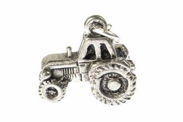 Tractor Charm For Bracelet Miniblings Tractor Farm Farmer Silver – Bild 1