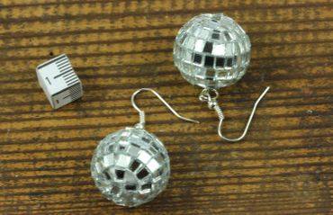 Disco Ball Earrings Miniblings Disco Disco Ball Mirror Ball Party Music DJ – Bild 4