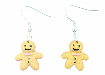 Gingerbread Man Earrings Miniblings Christmas Weckmann Gingerbread Biscuits – Bild 2