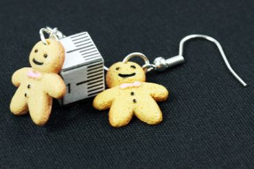 Gingerbread Man Earrings Miniblings Christmas Weckmann Gingerbread Biscuits – Bild 3