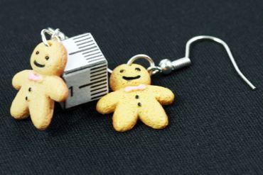 Lebkuchenmann Ohrringe Miniblings Hänger Weihnachten Stutenkerl Keks Schleife – Bild 3