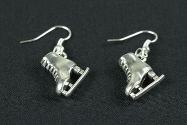 Ice Skates Earrings Miniblings Ice Skating Winter Ice Princess Silver – Bild 1