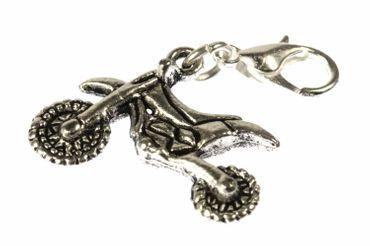 Motorcycle Charm For Bracelet Miniblings Motorbike Motocross Enduro – Bild 1