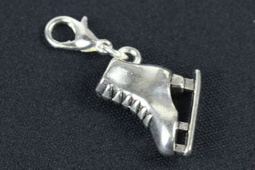 Ice Skates Charm Miniblings Ice Skating Winter Ice Princess Silver – Bild 2